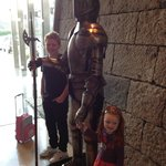 At the entrance to Clontarf Castle