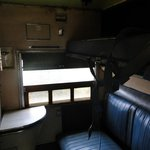 Inside a train cabin