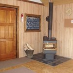 Brown Cabin Fireplace Stove