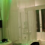 The shower in the room ( on the left there's a curtain if you need a bit of pr
