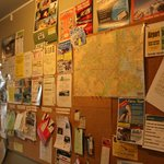 notice board that you can look for job or language and others