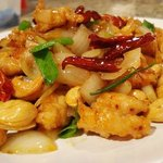 Chicken with cashew nuts. I love so much.