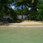 la villa et la plage