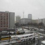 Vue avec la neige