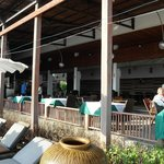 Hotel restaurant, overlooking the pool & beach, lovely staff