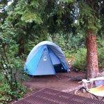 Tent at campsite #36