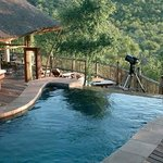 Our infinity pool is open for the use of all guests and overlooks our waterhole.