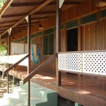 Typical lodgings with veranda and hammock