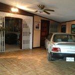 """Hotel"" lobby, actually a garage"