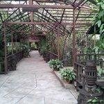 Couloir externe d'accès aux chambres du 1er