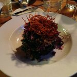 Our favorite menu item - the Purple Kale Salad