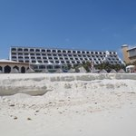 the resort from the beach