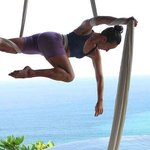 Aerial silk teacher Ana Prada