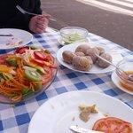 Salad & patatas with mojo sauce