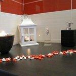 particolare del bagno della camera Sirena