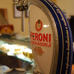 enjoy a chilled Peroni