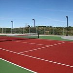 Tennis and Basketball Court Area