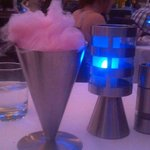 Cotton candy dessert