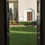 Gardens through the door