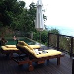 villa no 54 - perfectly private pool area - luxurious cushions/loungers