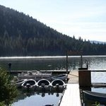 Boat dock at Lemolo Lake Resort just 15 miles from Crater Lake