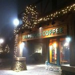 Outside of Starbucks - Night