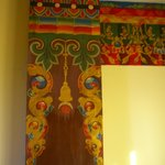 Traditional Tibetan hand painting in our room
