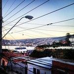Valparaíso desde la ventana del hostal
