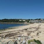 Porthcressa beach on our doorstep