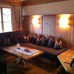 Kachelofen in unserer Suite