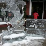 One of the many ice sculptures around town!