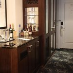 The minibar and amazing wardrobes!