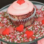 Ruby Cupcake: Red Velvet and Strawberry Swirl