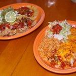Street tacos and sunset burrito plates