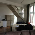 stairs to duplex,