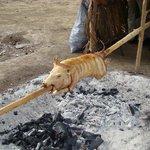 The Hog Roast is prepared on site