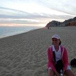 Sunset on fabulous Solmar Beach