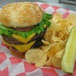 The Stinger, 1LB Burger named after WVSU