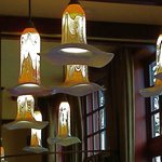 Beautiful glass light fixtures in La Rambla