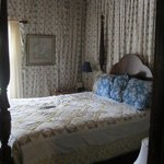 Sample room with one queen bed.