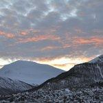 Winter morning sky from room 308