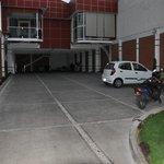 Parking lot behind hotel