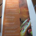 Aqua Bar poolside sanwich menu, new..