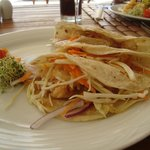 Shrimp Tacos at Beach/Ocean Club for lunch..