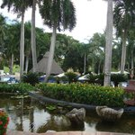 Loi ponds , lush landscape surround you on the grounds