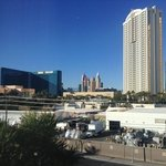 view of strip from our room in tower 3
