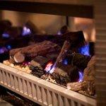 Chalet fire, toasty warm