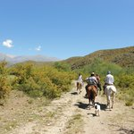Horseback riding in the foothills of the Andes