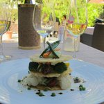 Beautifully presented -- and tasty -- Vegetable Tower