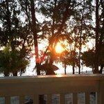 photo du levé de soleil de notre balcon